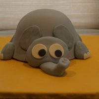 Mom's Elephant Cake My mother loves elephants so my daughter wanted me to make this cake. It was inspired by so many on CC especially cloudsmom and kagezonen....