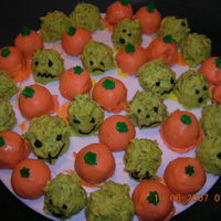 Monster And Pumpkin Cake Bon Bons Or Cake Balls Monsters were dipped with sprinkles which makes a crunchy cake ball