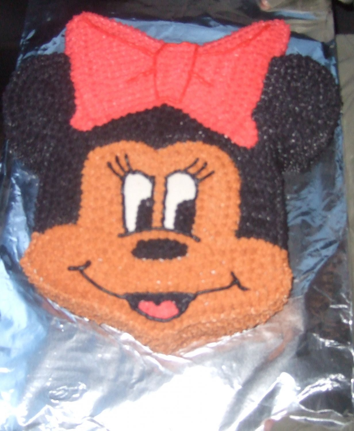 Minnie Mouse carved this sucker out of a 12 in square