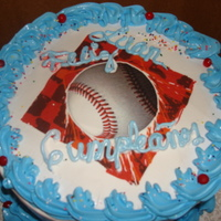 Dominican Cake used an edible picture on it