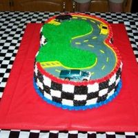 3Rd Birthday Racetrack This was made for a little boy's third birthday. Many thanks goes to Tripletmom for this idea!!