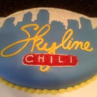 Skyline Chili Cake I made this for the local Skyline Chili grand opening. fondant covered cake with butter cream decortions