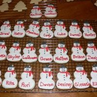 Snowmen Cookies These are my first decorated cookies! I used the NFSC recipe and Antonia's Icing. These were for my daughter's kindergarten class...