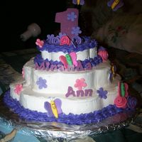 1St Birthday I do this for fun, and this one is for my niece's 1st birthday. Based on ideas from this site THANKS! Flowers & butterflies made...