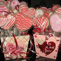 Valentine Cookie Bouquets Inspired by bakinccc! (Though I like hers WAY better than mine!) Penny's cookie recipe with royal icing and arranged in a pretty...