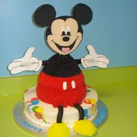 Jack's Mickey Mouse Birthday This is the Mickey Mouse cake from the Wilton 2006 yearbook minus the chocolate head....after buying all the pans and supplies needed for...