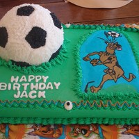 Scooby Soccer Cake Jack's 4th birthday