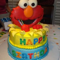 Elmo Birthday Cake Here's my grandson's 2nd birthday cake I made over the weekend. Let me thank ginamig for all of her help, the tips made things go...