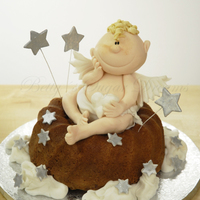 Angel Bundt Cake Classic bundt cake with gumpaste angel and stars. Thanks for looking!