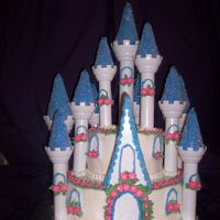Castle Cake   This was done with the Wilton kit...I am very happy with how it turned out...