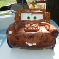 Front Of Tow Mater I just did this for my sons birthday party. He loved it!! But it was very hard to cut into knowing it just took 9 hours of work!