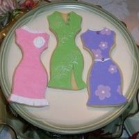 Dresses Rich Rolled sugar cookies with rolled fondant