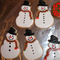 Snowman Cookies My version of snowman cookies that I made this year. No Fail Sugar Cookies with RI. Thanks for looking!