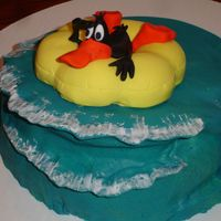 "Daffy Duck Birthday Cake I made this for my husband's birthday. I wanted to make something different and saw this in Debbie Brown's ""Cartoon Cakes&..."