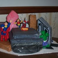 Super Hero Cake Front View This is the front view of the same cake