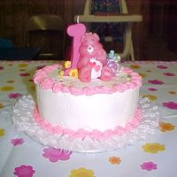 Care Bear Smash Cake   Smash cake for Alexis's First Birthday.