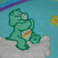 Care Bear Cake Close-up of the Care Bear.