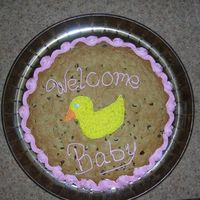 Giant Baby Shower Cookie