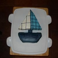 Sail Boat Sail boat to match the Nautica bedding for a baby shower.