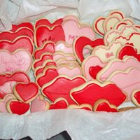 Valentine Cookies Made for my son class and teachers
