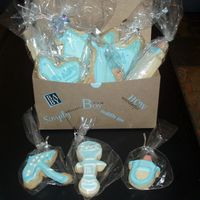Cookie Gift Box Baby Shower These were fun to do. This was my first time.
