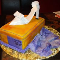Shoebox And Shoe Cake For Co-Worker This was my first time using my airbrush and making a gumpaste shoe. This was fun and easy to make.