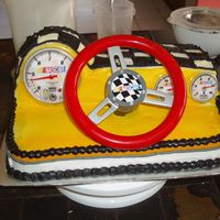 Dashboard Nascar Cake This cake was for my son 3 birthday. The cake was damaged by my lovely husband and cousin whom I left in charge of the cake, which I had...