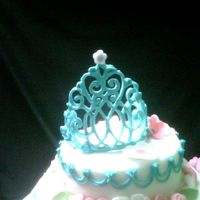 Blue Ri Tiara this was my first royal icing tiara,i had left over blue ri from another order so i thought id give it a try....i was really lucky becasue...