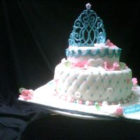 Whimsical Princess Cake this was a birthday cake for a family freinds baby that i babysitit was a gift from me to her even though she wont remember it[she turned...