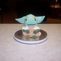 Yoda This is practice for my grandsons' up coming birthday.Needs work but not as bad as thought it would be.
