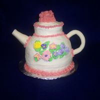 Tea Pot Ball cake pan fondant I was happy with it.Our first one.