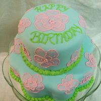 Brush Embroidered Cake  This is my first attempt at Brush Embroidery. It was fun, and turned out ok. Thanks to those of you here on CC that have posted your BE...