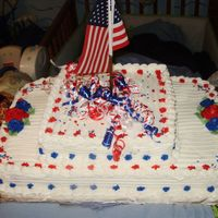 Patriotic Cake patriotic cake for a flag dedication at hubby's work