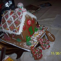 Gingerbread House gingerbread house decorated by me and my 5 year old son!