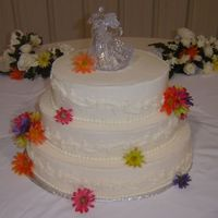 Summer Flowers Wedding Cake