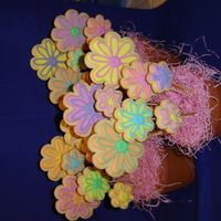 Flower Cookie Bouquets   Three flower cookie bouquets, playing with colors and combinations.