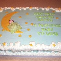 Generic Baby Shower Cake A big Thank You to all the inspiration in the galleries and especially Diane. Cream cheese frosting that gave me fits with unexpected warm...