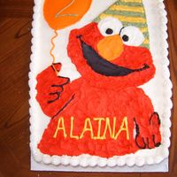 Elmo Cake This is a cake I just did for my friend's daughter's birthday. Now that I see the picture, I see some flaws, but she loved it (...