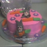 Easter Bunny Cake I copied this from a book, that originally carved a cake, then covered it with fondant to resemble a hill. Since no one at my office really...