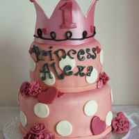 Princess Cake Fondant with fondant decorations. Thanks for looking. :)