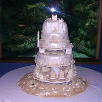 "Sandcastle Wedding Cake Well, this is what I worked on for 2 days straight. The couple wanted a ""rustic"" look to this cake, for it to not look ""like..."