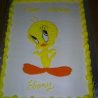 Birthday Cake Tweety Twety bird cake.