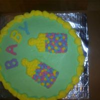 Baby Shower Chocolate inside with all buttercream frosting.