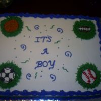 Boy Baby Shower Cake Sports theme baby shower cake