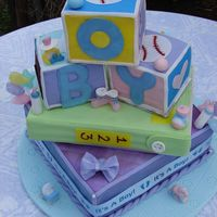Baby Blocks My cousin's baby shower cake.