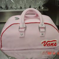 Vans Purse My First Purse.Sour Cream Chocolate Cake with Creme Fraiche Filling.