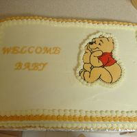 Winnie The Pooh Baby Shower Cake This is a picture of the cake for my cousin's baby shower this weekend. Winnie the Pooh is a BCT.