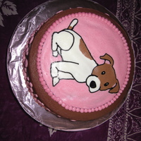 Jack Russell Cake For my mothers birthday I found a cartoon picture of a Jack Russell that looks identical to her dog Roxy, this was a frozen buttercream...
