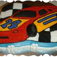 Nascar Birthday Cake I made this NASCAR Cake for my husband's coworker's birthday. Her favorite NASCAR driver, #24, Jeff Gordon.
