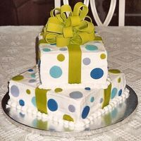 Package Cake With Bow This cake gave me SUCH a hard time! It was SO hot and humid the day I made it, and it seemed the buttercream was sliding and melting no...